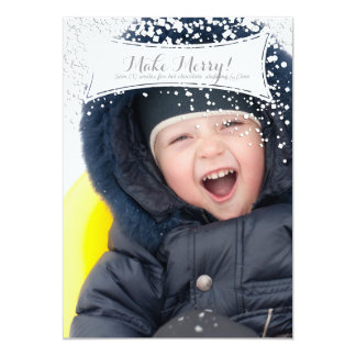 Make Merry Holiday Photo Card for Christmas