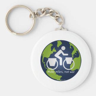 Make miles, not war basic round button keychain