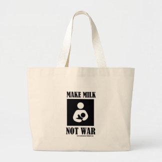Make MILK NOT WAR Bags