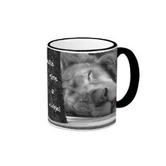 make mine a double ~ funny lion coffee / tea mug mugs