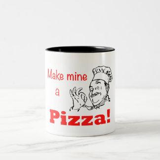 Make Mine a Pizza! Two-Tone Coffee Mug