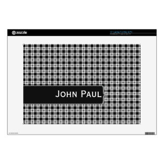 Make Mine Black and White Laptop Skins