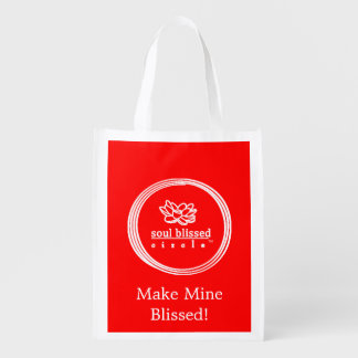 Make Mine Blissed! Reusable Bag Market Tote