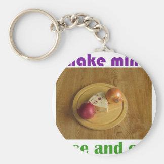 Make mine cheese and onion keychain