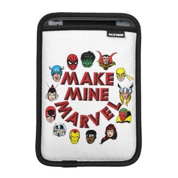 """""""Make Mine Marvel"""" Hero Graphic iPad Mini Sleeve"""
