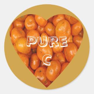 Make Mine Orange Classic Round Sticker
