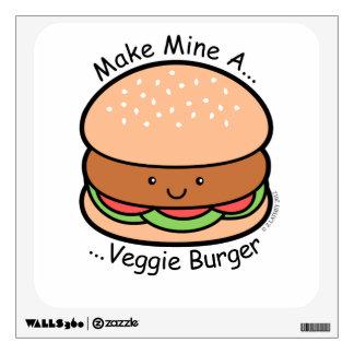 Make Mine Veggie Burger Wall Sticker