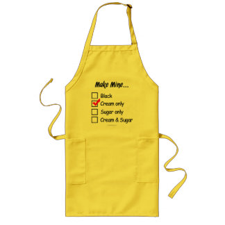 Make Mine with Cream Long Apron