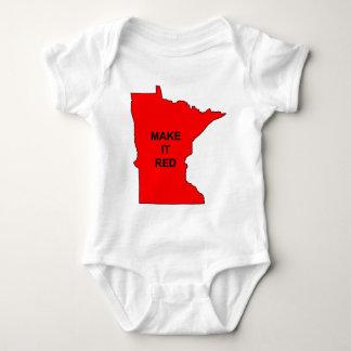 Make Minnesota Red Baby Bodysuit