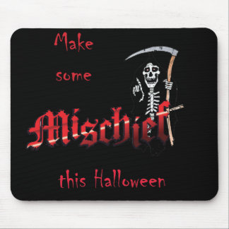 Make Mischief Halloween Skeleton Mouse Pads