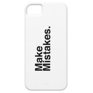 Make Mistakes. iPhone 5 Cases