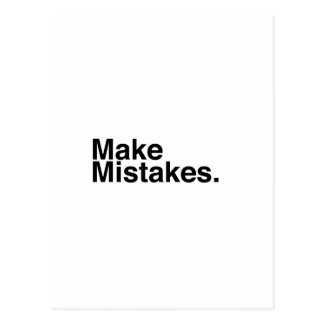 Make Mistakes. Postcard