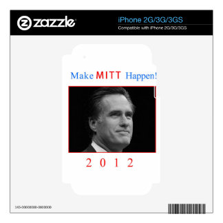 Make Mitt Happen! iPhone 3 Decal