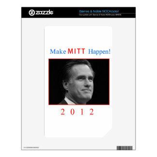 Make Mitt Happen! Decal For The NOOK Color