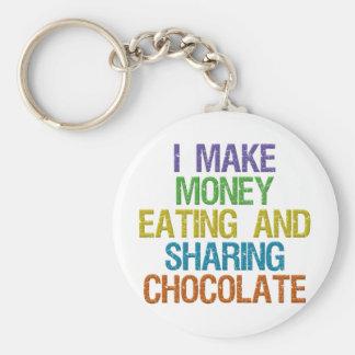 Make Money Basic Round Button Keychain
