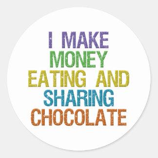 Make Money Classic Round Sticker