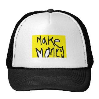 make money colour mesh hat