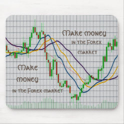 Make money in the Forex market Mouse Pad