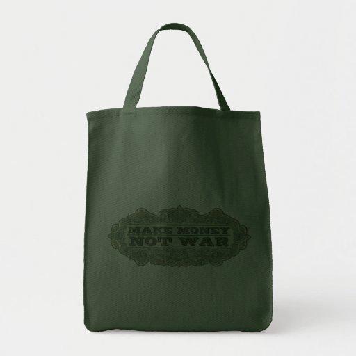 Make Money Not War Grocery Tote Bag