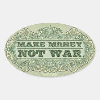 Make Money Not War Sticker