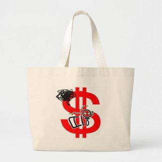 make money online large tote bag