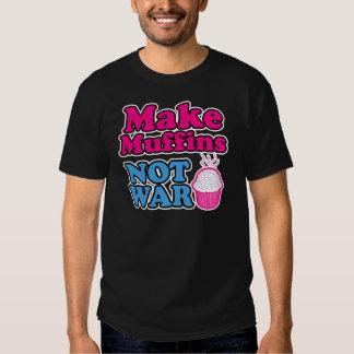 Make Muffins Not War Tee Shirt