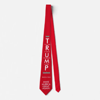 Make Murica Great Again with Wall Neck Tie