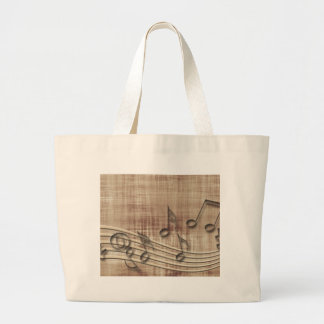 Make Music 03 beige Large Tote Bag