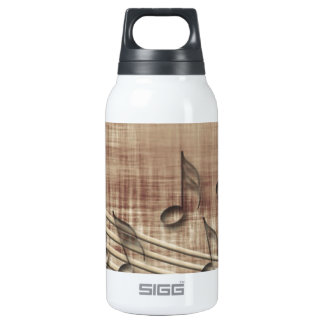 Make Music 03 beige 10 Oz Insulated SIGG Thermos Water Bottle