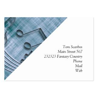 make music 03 blue business cards