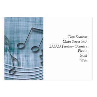 make music 03 blue business card template