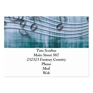make music 03 blue business card