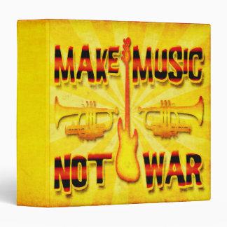 Make Music Not War 3 Ring Binder