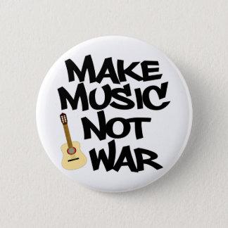 Make Music Not War Acoustic guitar Button