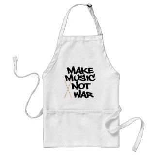 Make Music Not War (Drums) Adult Apron