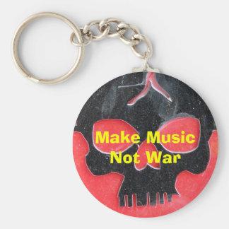 Make Music Not War Keychain