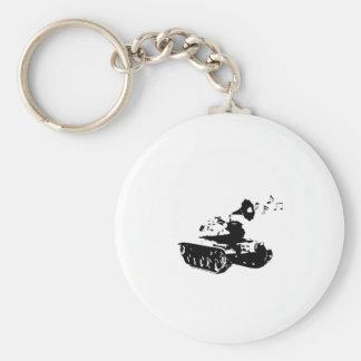 Make Music, Not War Keychain