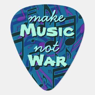 Make Music Not War Musical Notes Blue Green Pick