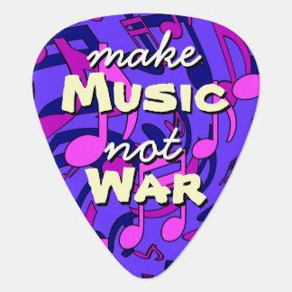 Make Music Not War Musical Notes Blue Purple Pick