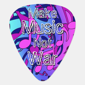 Make Music Not War Musical Notes Lively Pattern Pick