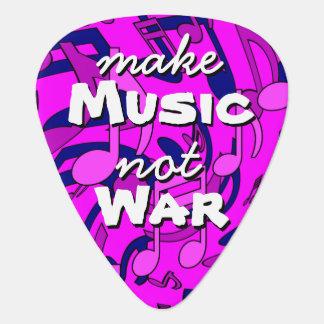 Make Music Not War Musical Notes Magenta Pick