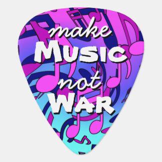 Make Music Not War Musical Notes Pattern Guitar Pick