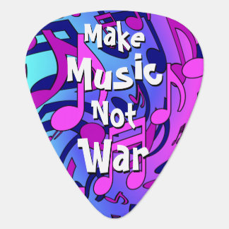 Make Music Not War Musical Pattern Lively Notes Pick