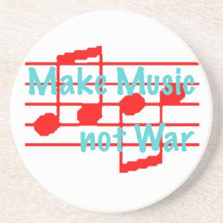 Make Music not War Sandstone Coaster