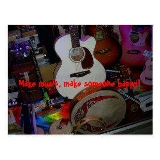 make music postcard