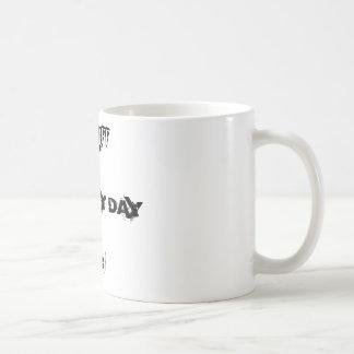 MAKE MY DAY, AHH, \Decaff Classic White Coffee Mug