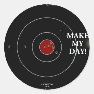 MAKE MY DAY CLASSIC ROUND STICKER