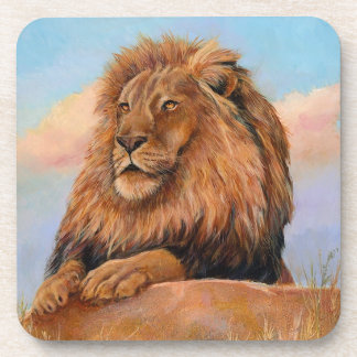 Make my day lion drink coasters