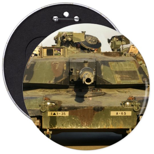 Make My Day M1A1Abrams MBT Button