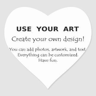 Make my own gifts using my art fun easy templates heart sticker